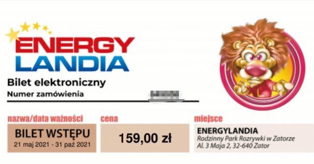 Bilet dwudniowy ulgowy Energilandia