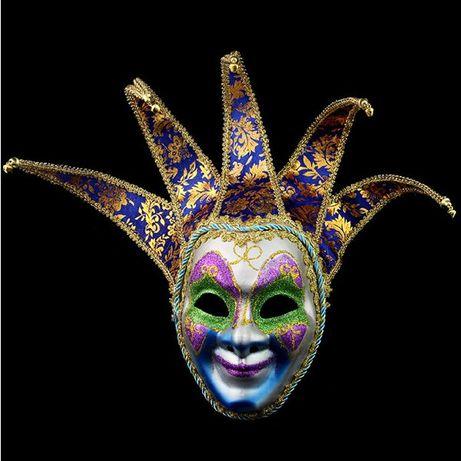 АКЦИЯ маска карнавальная в венецианском стиле Джокер