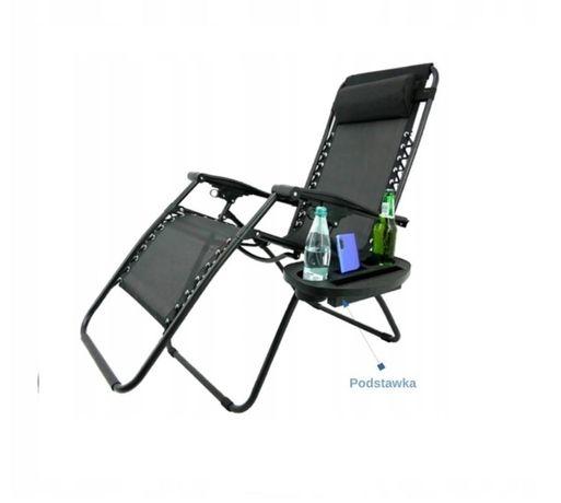 LEŻAK krzesło fotel ogrodowy składany podstawka