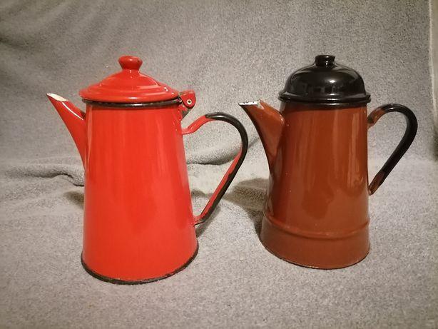Czajnik imbryk czajniczek emalia vintage prl
