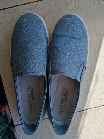 Туфли-мокасины кожаные с блеском