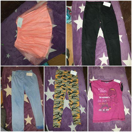 Ubrania r 140 dla dziewczynki