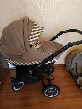 Коляска адамекс 2 в 1 +ходунки и подвеска для коляски