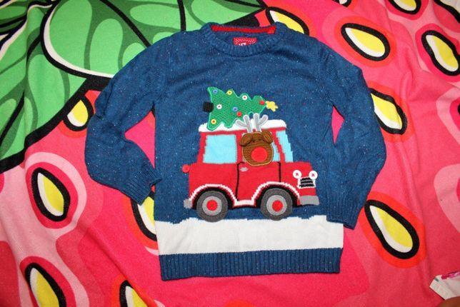 Свитер кофта свитшот новогодний зимний на 4-5 лет