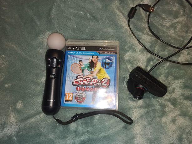 Zestaw PS Playstation Move + gra PS3 PS4