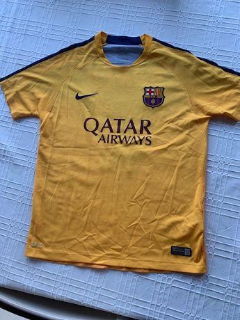 Żółta rozgrzewkowa koszulka Nike FC barcelona