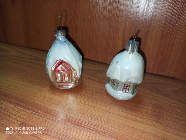 Ретро Елочная игрушка Избушка/домик/дом/на елку новогодняя/раритет