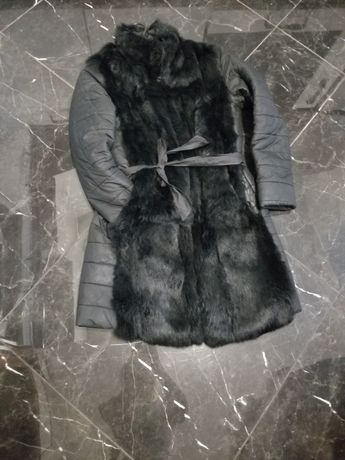 Пуховик,куртка,парка,курточка зимняя  ,пальто ,натуральний мех,кролик