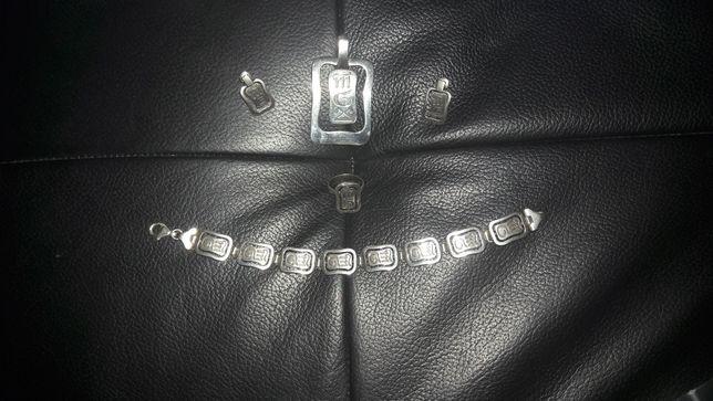 Srebrny komplet 3 częściowy