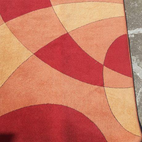 Dywan czerwony pomarańczowy 130x195