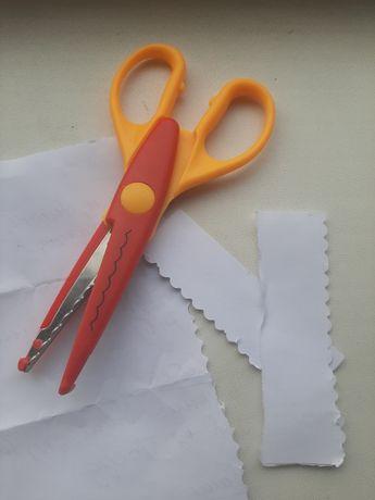 Ножницы для бумаги, картона, режет волнами