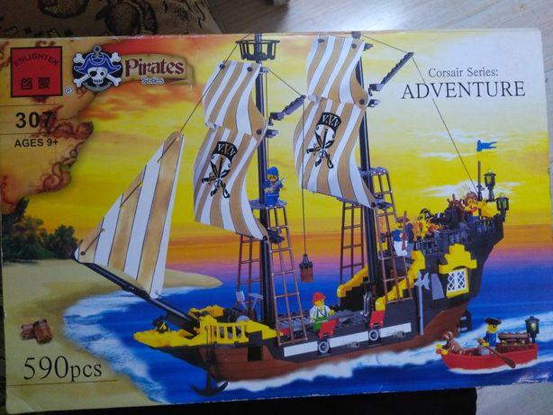 Лего пиратский корабль. Пираты Карибского моря.