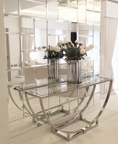Zestaw płytek lustrzanych 90x90cm, lustra fazowane 15mm