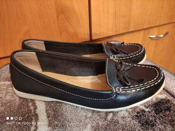 Кожаные туфли, мокасины 24,5 см