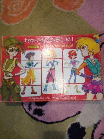 Top modelki ubieranki, puzzle