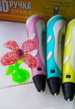 3d ручка +пластик PLA! Нарисуй 3д машинку, куклу lol, вертолет, lego
