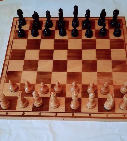 Stare drewniane szachy OKAZJA!!! Stan idealny