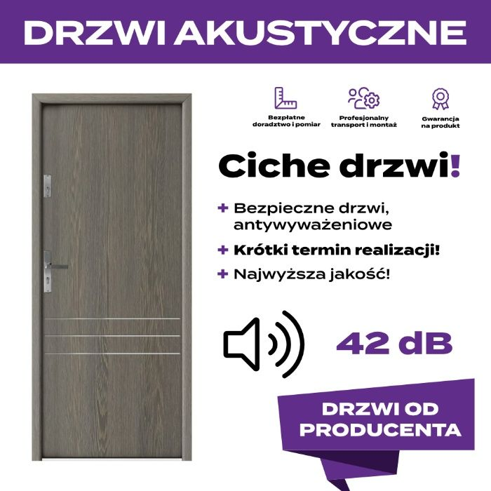 Wygłuszone Drzwi wejściowe Łódź - image 1