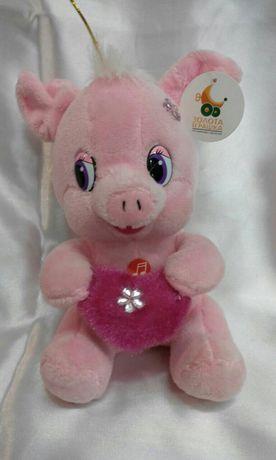 """Мягкая игрушка """" Свинка с сердцем"""""""