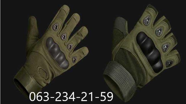 Тактические перчатки с пальцами + Пара перчаток без пальцев в подарок