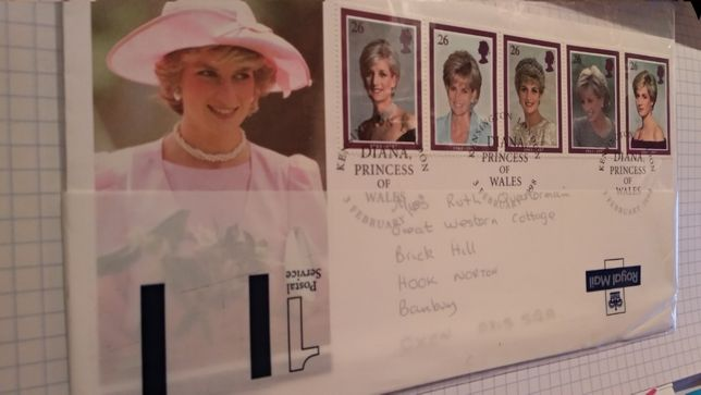 почтовая карточка конверт принцесса ДИАНА Diana Princess of Wales