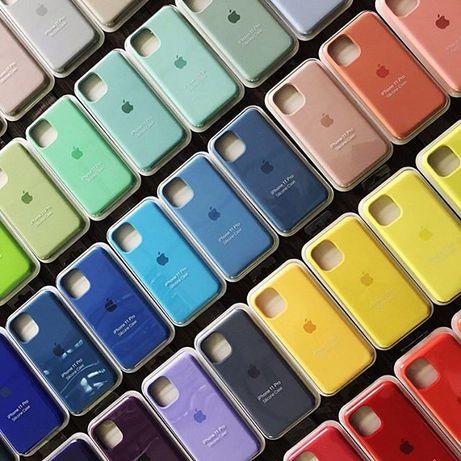 Чехол Silicone Case Iphone 12 6 6s 7 8 plus X Xs Xr 11 Pro Max Стекло