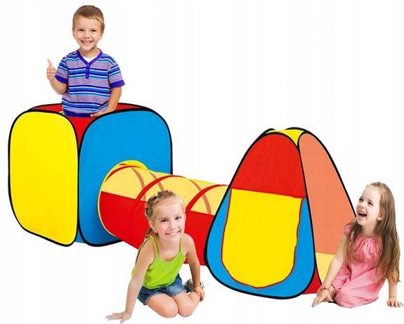 NAMIOT Dla Dzieci Domek TUNEL 247 cm DUŻY 3w1
