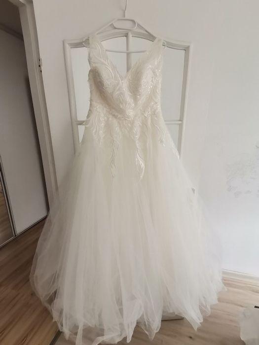 Suknia ślubna śmietankowa Tychy - image 1