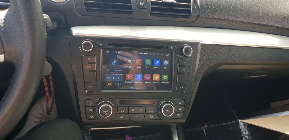 (NOVO) Rádio GPS BMW Série 1 ANDROID 10 - E81/E82/E87/E88 2004 a 2011