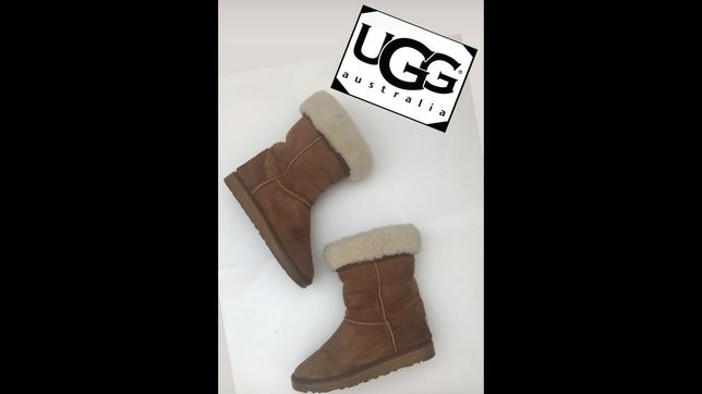 UGG Australia кожаные ботинки сапоги  кроссовки 37- 38р