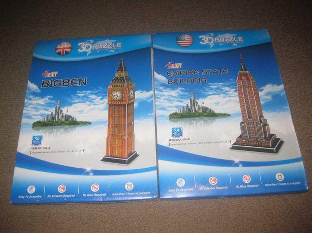 2 Puzzles 3D de Monumentos Famosos/Embalados!