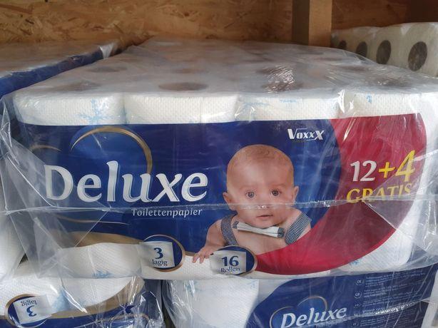 Туалетний папір Deluxe 16шт 3-ьох шаровий