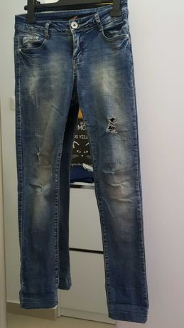 Jeansy damskie roz. 26 (xs) dla osoby o wzroscie 150-153cm