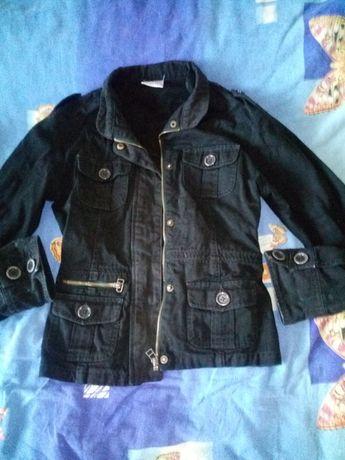 Отдам Джинсовую чёрную куртку