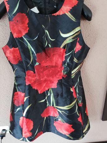Sukienka jak nowa motyw kwiatowy r L