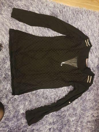 Czarna bluzka damska z suwakiem