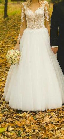 Sukienka ślubna r.34