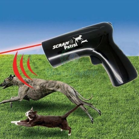 Ультразвуковой отпугиватель от собак с лазером Scram Patrol
