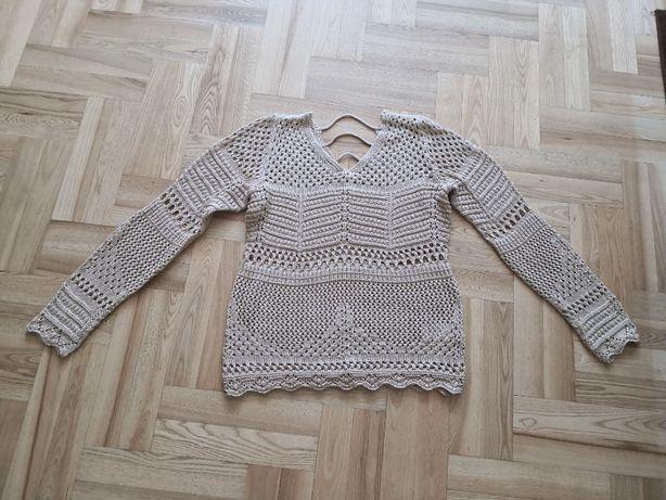 sweter ażurowy bonprix
