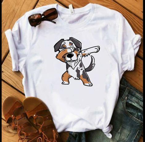 Koszulka t-shirt aussie chihuahua doberman husky owczarek S-XXL