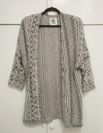 Run free C&A kardigan sweterek narzutka boho aztec 158-164