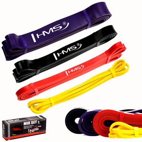 Zestaw 4 gumy oporowe do ćwiczeń powerband GU05HMS fitness crossfit