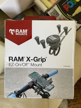 Велосипедное крепление RAM EZ-ON/OFF c подставкой для телефона X-Grip