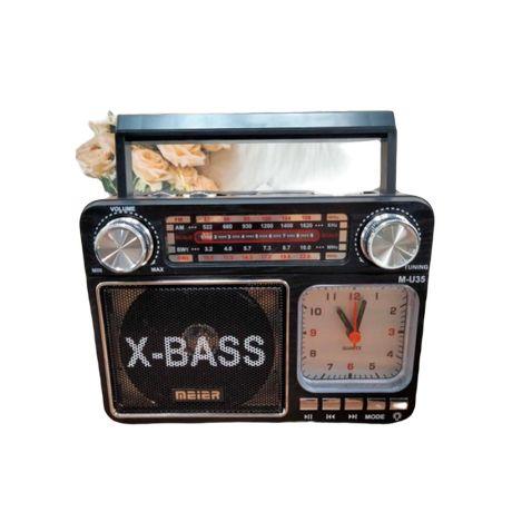 Radio z zegarkiem i lampką LED Meier Mp3 USB FM AM czarne