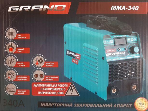 Сварочный аппарат, инвертор GRAND ММА-340 есть все модели.