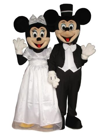 Mascotes Mickey e Minnie Noivos (Novas)