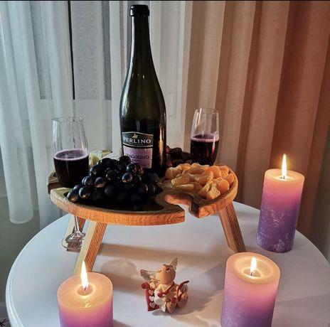 Винный столик из дуба