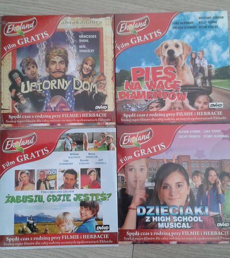 Filmy CD dla dzieci NOWE komplet zestaw 4szt