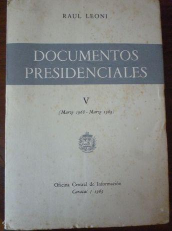 Documentos Presidenciales, Vol. V, Raúl Leoni