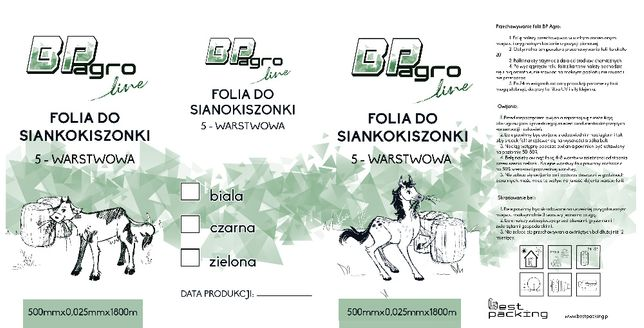 Promocja!!! Folia do sianokiszonek BP Agro 0,5x1800m paletowo